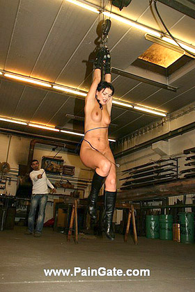 THE CHEATING WIFE - IS SUSPENDED NAKED IN THE AIR FOR THE CRUEL BULL- AND COACH WHIP