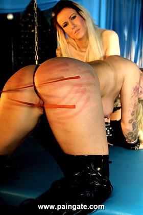 NEW TWINS - 2 BEAUTIFUL BLONDES UNDER VERY HARD WHIPPINGS IN THE BLUE PUNISHMENT ROOM