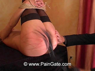See a sensational ass and pussy whipping session!