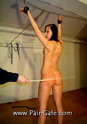 Very lucious 18 year old Nicole gets her very first punishment!