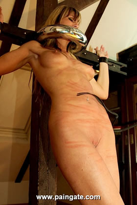 WIRED WHIPPING - A MEMBERS WISH EXECUTED BY A MEMBER: MERCEDES PUNISHED HARD ON TITS AND PUSSY!